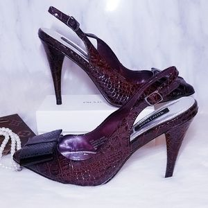 White House Black Market Pumps Heels RUDY 6 Wine